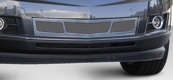 T-Rex 57187 |  Cadillac SRX - Upper Class Mesh Bumper Grille, Overlay, 3 Window Design, Chrome; 2010-2013