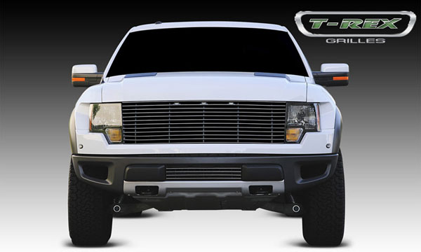 T-Rex 6215660:  Ford Raptor F-150 SVT 2009 - 2013 Laser Billet Grille - Polished