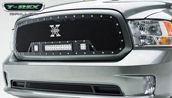 T-Rex 6314581:  2013 Dodge Ram 1500 TORCH Series LED Light Grille Single 2 - 3'' LED Cubes 1 - 12'' Light Bar (For off-road use only)