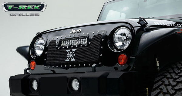 T-Rex 6314831:  2007-2013 Jeep Wrangler TORCH Series LED Light Grille 1 - 12'' LED Bar (For off-road use only)
