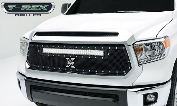 T-Rex 6319641:  Toyota Tundra 2014 - TORCH Series LED Light Grille,1 - 30'' LED Bar, Formed Mesh, Main Grille, Replacement, 1 Pc, Black (For off-road use only)