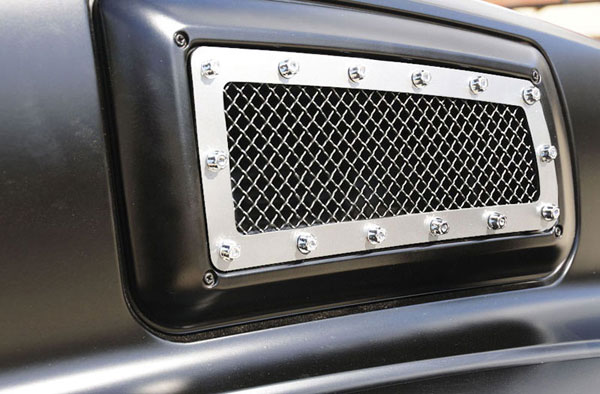 T-Rex 6710840:  Chevrolet Kodiak 2004 - 2010 X-METAL Series - Side Vent Studded Grille - Polished SS