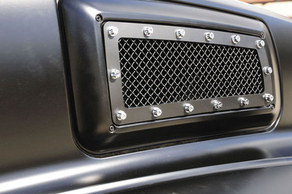 T-Rex 6710841:  Chevrolet Kodiak 2004 - 2010 X-METAL Series - Side Vent Studded Grille - Black