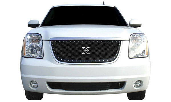 T-Rex 6711711:  GMC Yukon 2007 - 2013 X-METAL Series - Studded Main Grille - ALL Black