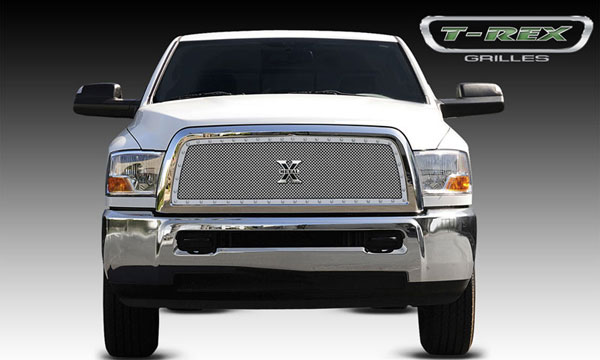 T-Rex 6714510:  Dodge Ram Pick Up 2500 / 3500 2010 - 2012 X-METAL Series - Studded Main Grille - Custom 1 Pc Full Opening (Requires Cutting center Bars) - Polished SS