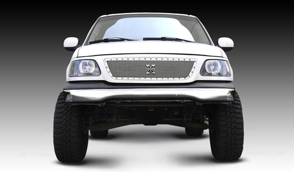 T-Rex 6715800 |  Ford F150 1999 - 2002 X-METAL Series - Studded Main Grille - Polished SS