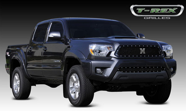 T-Rex 6719381 |  Toyota Tacoma 2012 - 2013 X-METAL Series - Studded Main Grille - ALL Black
