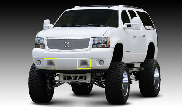 T-Rex 6720510:  Chevrolet Avalanche 2007 - 2013 X-METAL Series - Studded Bumper Grille - Polished SS