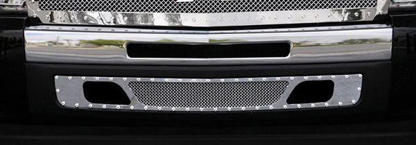 T-Rex 6721100:  Chevrolet Silverado 1500 & 07-10 HD 2007 - 2013 X-METAL Series - Studded Bumper Grille - Polished SS