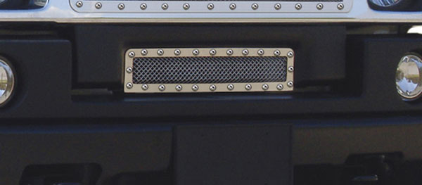 T-Rex 6722900 |  Hummer H2 - X-METAL Series - Studded Bumper Grille - Polished SS; 2003-2007