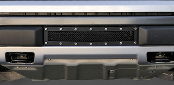T-Rex 6725666:  Ford Raptor F-150 SVT 2009 - 2013 X-Metal Bumper Grille - Frame and Mesh have Flat Black Finish