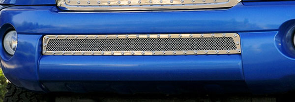 T-Rex 6728950:  Toyota Tacoma 2005 - 2011 X-METAL Series - Studded Bumper Grille - Polished SS