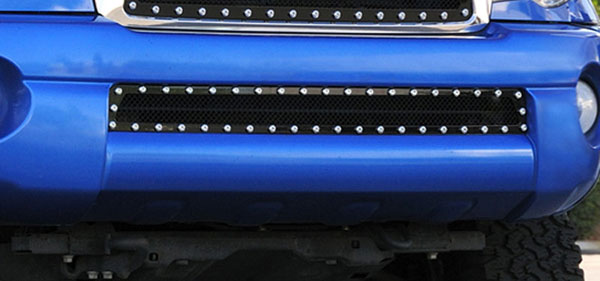 T-Rex 6728951:  Toyota Tacoma 2005 - 2011 X-METAL Series - Studded Bumper Grille - ALL Black