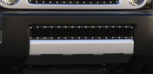 T-Rex 6729321:  Toyota FJ Cruiser 2005 - 2013 X-METAL Series - Studded Bumper Grille - ALL Black