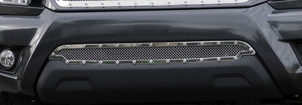 T-Rex 6729380:  Toyota Tacoma 2012 - 2013 X-METAL Series - Studded Bumper Grille - Polished SS
