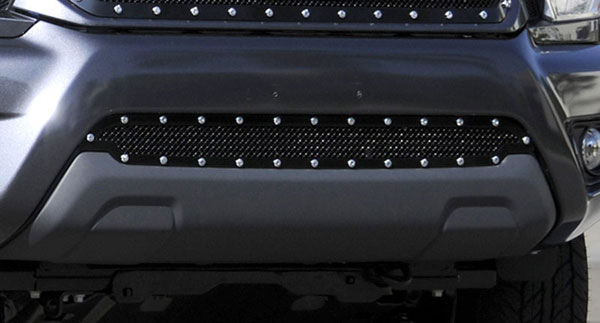 T-Rex 6729381:  Toyota Tacoma 2012 - 2013 X-METAL Series - Studded Bumper Grille - ALL Black