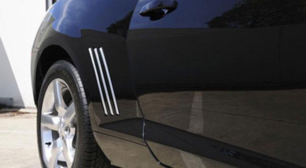 T-Rex 6910082    Chevrolet Camaro - Defenderworx Quarter Panel Side Vent - 6 Pc - Chrome; 2010-2013