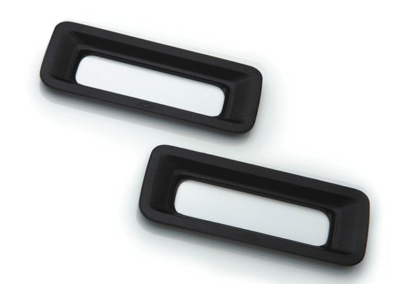T-Rex 6910121 |  Chevrolet Camaro - Defenderworx Reverse Light Bezel - 2 Pc - Black; 2010-2013