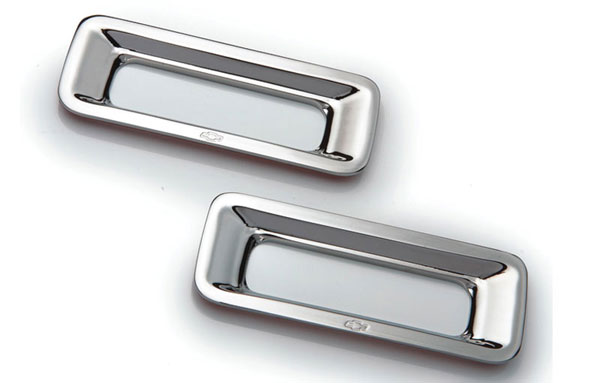 T-Rex 6910122:  Chevrolet Camaro 2010 - 2013 Defenderworx Reverse Light Bezel - 2 Pc - Chrome