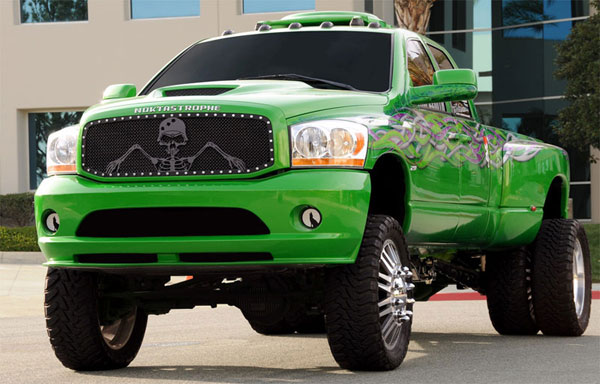 T-Rex 7114596:  Dodge Ram PU 2006 - 2008 URBAN ASSAULT ''GRUNT'' - Studded Main Grille w/ Soldier - Black OPS Flat Black - Custom 1 Pc Opening (Requires Cutting center Bars)