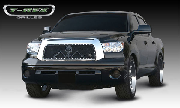 T-Rex 7119636:  Toyota Tundra 2010 - 2012 URBAN ASSAULT ''GRUNT'' - Studded Main Grille w/ Soldier - Black OPS Flat Black