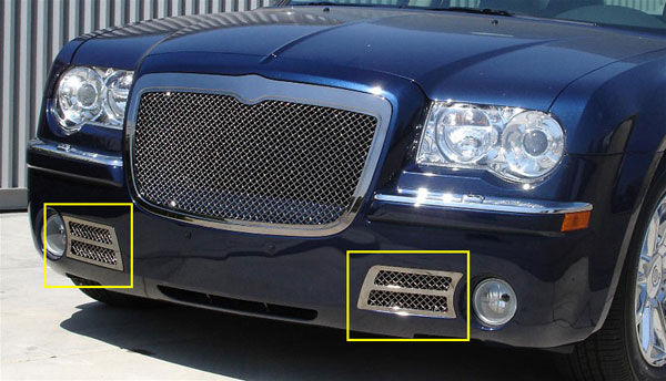 T-Rex 85471:  Chrysler 300C (Only) 2005 - 2010 HYBRID Series Bumper - CHROME EDITION - w/Wire Mesh