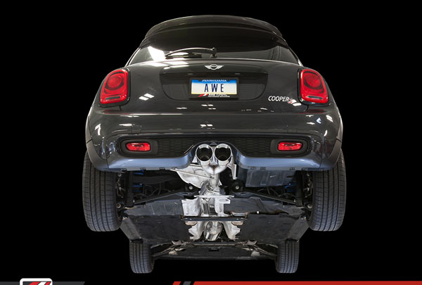 AWE Tuning 3020-22018 |  Mini Hardtop 2 Door Cooper S 2.0L Turbo F56 Track Edition Exhaust System - Chrome Silver Tips, 2014-2017