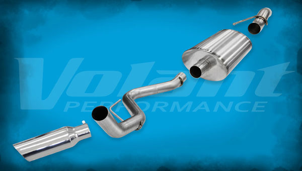 "Volant 54387 |  Exhaust System Ford F-150 Raptor 6.2L V8 133"" WB 3.0"" Single Side Exit; 2011-2014"