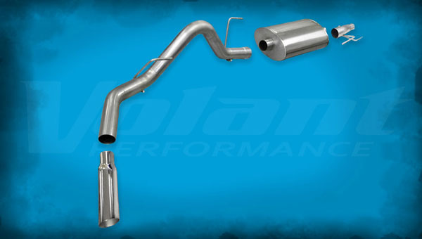 Volant 54392:  Exhaust System 2011-2014 Ford F-150 EcoBoost 3.5L V6 3.0'' Single Side Exit