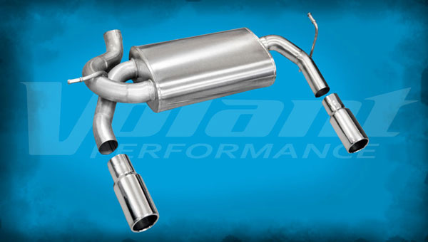 Volant 54412:  Axle-Back 2012-2014 Jeep Wrangler JK 3.6LV6 2.5'' Dual Rear Exit