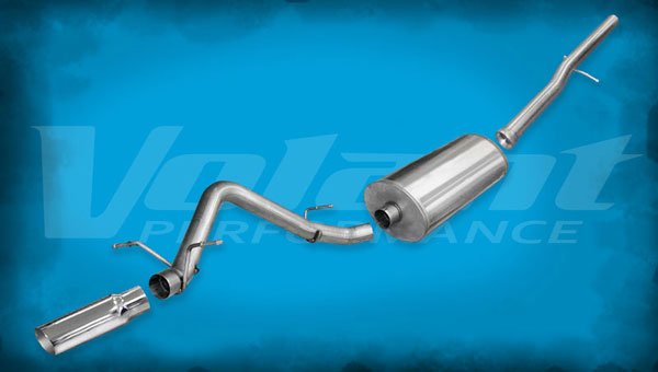 Volant 54905:  Exhaust System 2010-2013 GMC Sierra 1500 5.3L V8 143.5'' WB 3.0'' Single Side Exit