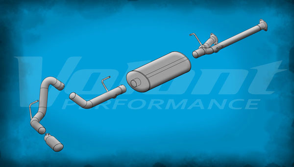 Volant 54916:  Exhaust System 2011-2014 Toyota Tundra 5.7L V8 145.7'' WB 3.0'' Single Side Exit