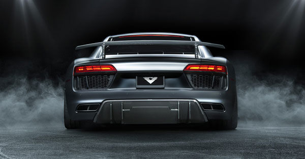 Vorsteiner VUD2150 |  Audi R8 VRS Aero Rear Diffuser Carbon Fiber PP 2x2 Glossy; 2006-2017