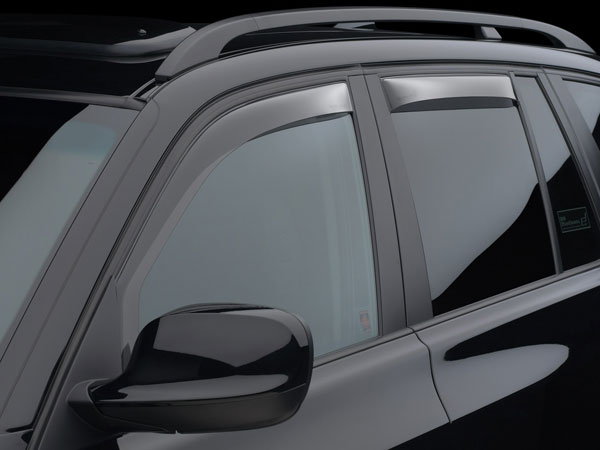 WeatherTech (70367)  Front Side Window Deflectors Suzuki Equator Crew Cab 2009 - 2016, Light Smoke
