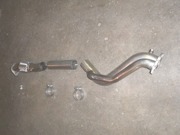 Stainless Works WRX02DPIWG:  Subaru WRX 2002-07 Downpipe 3'' Offroad with Wastegate Tube