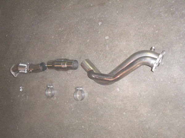 Stainless Works WRX02DPIWGC:  Subaru WRX 2002-07 Downpipe 3'' Catted with Wastegate Tube