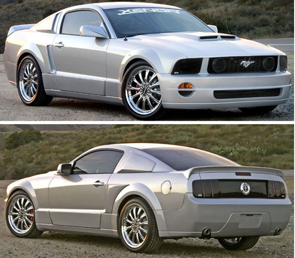 Xenon 12140: XENON Mustang GT/R Body Kit - w/ Quarter & Window scoop 2005-2009 Mustang V6