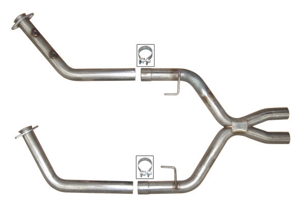 Pypes Performance Exhaust XFM23: Pypes Off-Road modular Xpipe for 2005-10 Mustang GT - 409 Stainless Steel V8