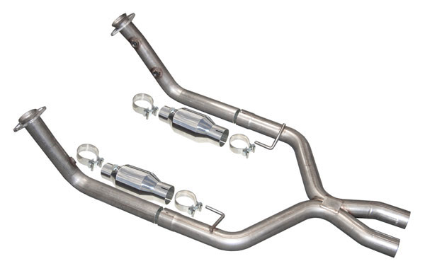 Pypes Exhaust XFM26 | Pypes modular Xpipe with cats for Mustang GT - 409 Stainless Steel V8; 2005-2010
