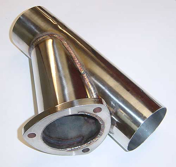 Pypes Exhaust YVX08S | Pypes 2.25 Y CUTOUT 304 stainless