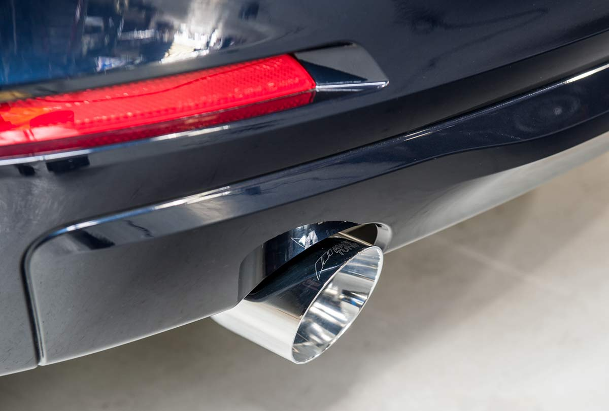 -Right side Black welding car dual exhaust pipe tip car for BMW