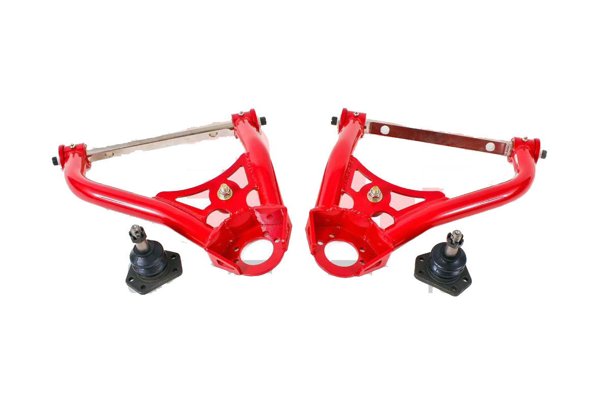 BMR Suspension AA005R | BMR Tubular Upper A-arms for Camaro Red
