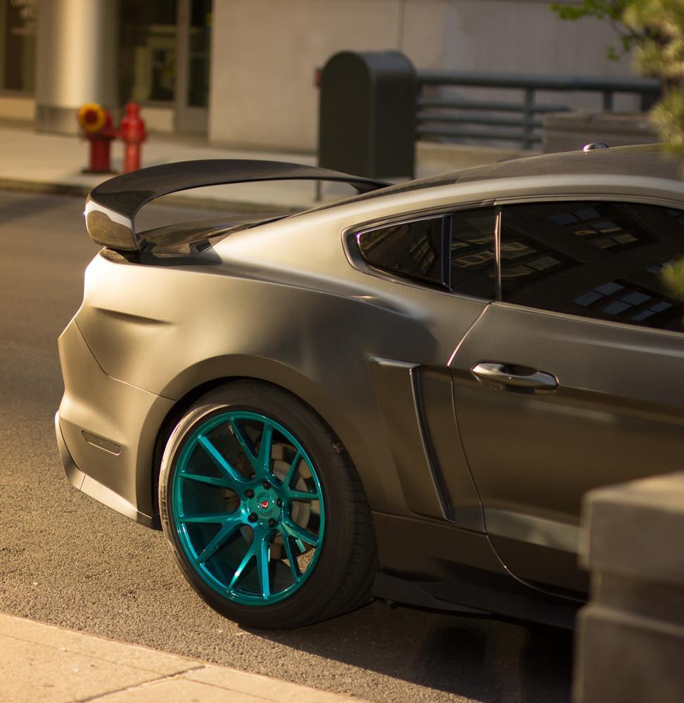 Anderson Composites Ac Rs15fdmu Gr Mustang Carbon Fiber Rear Spoiler Gt350r Style