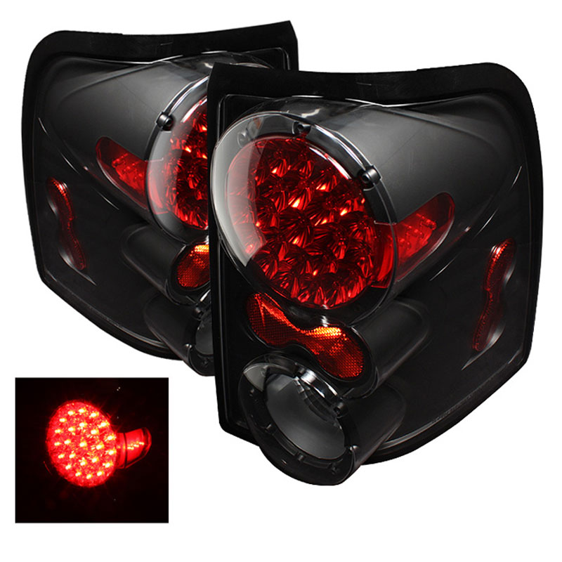 Xtune 5012845 Ford Explorer 4dr Except Sport Trac Led Tail Lights Black 2002 2005