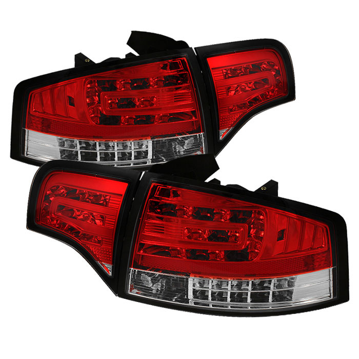 Spyder 5029294 | Audi A4 4Dr LED Tail Lights - Red Clear -  (ALT-YD-AA406-G2-LED-RC)