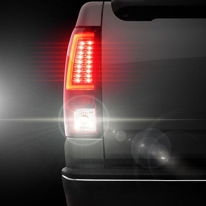 Spyder 5081926 Chevy Silverado 1500 2500 Version 2 Led Tail Lights Red Clear Alt Yd Cs03v2 Led Rc 2003 2006