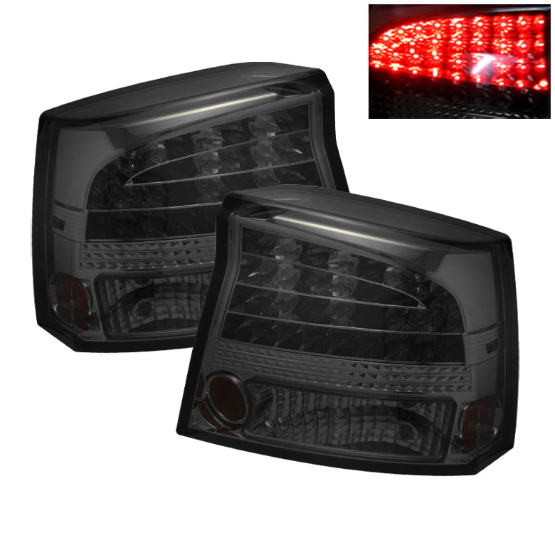Spyder ALT-YD-DCH05-LED-SM - Spyder Dodge Charger 06-08 LED Tail Lights - Smoke