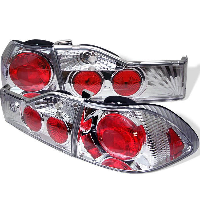 Spyder ALT-YD-HA01-4D-C - Spyder Honda Accord 01-02 4Dr Altezza Tail Lights - Chrome