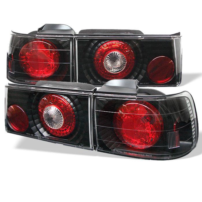 Spyder ALT-YD-HA90-BK - Spyder Honda Accord 90-91 4Dr Altezza Tail Lights - Black