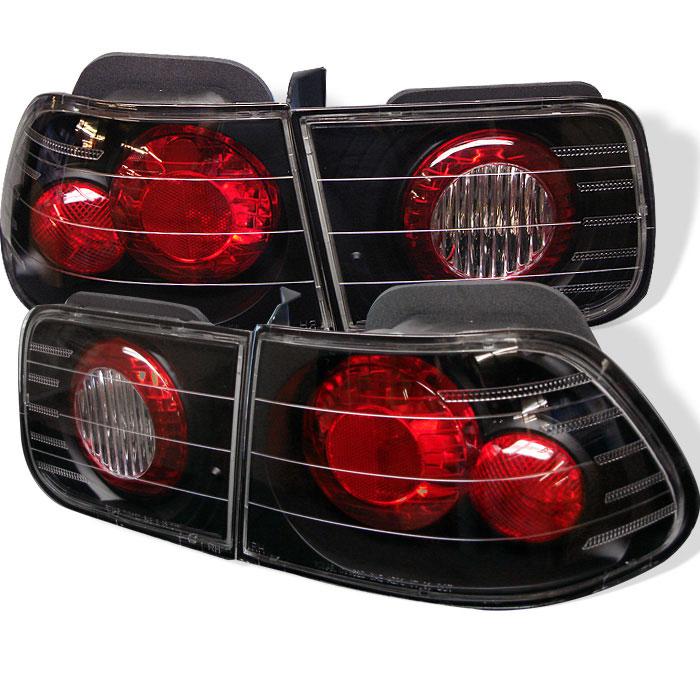 Spyder ALT-YD-HC96-2D-BK - Spyder Honda Civic 96-00 2Dr Altezza Tail Lights - Black